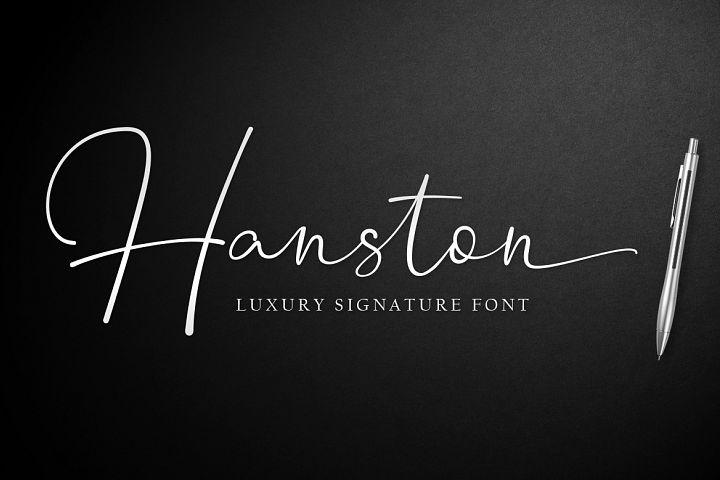 Hanston | Luxury Signature Font