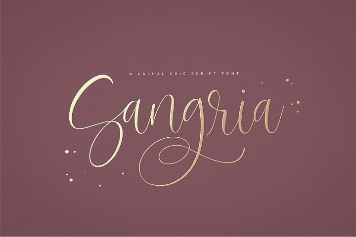 Sangria Script Font