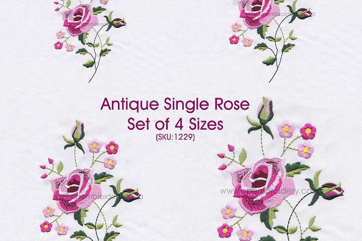 Antique Vintage Old Style Single Rose