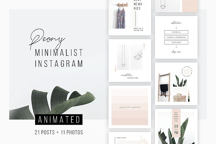 ANIMATED Instagram Posts Peony