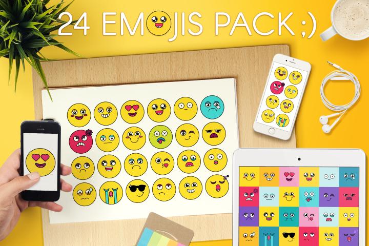 Comic Cute Emoji Sticker Pack