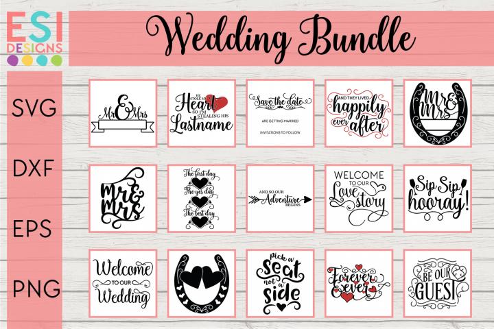 Wedding Bundle SVG - 15 Designs