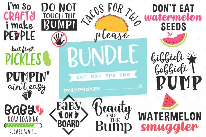 Pregnancy Bundle 11 Designs SVG DXF EPS PNG