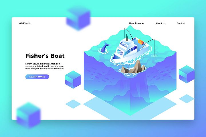 Fishers Boat - Banner & Landing Page