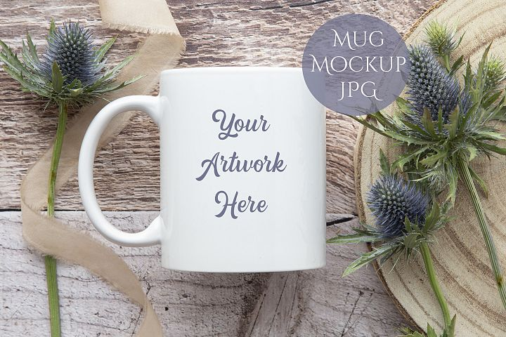 Mug Mockup- rustic wood