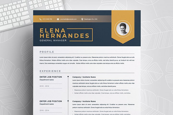 Creative Resume / CV Template | Instant Download