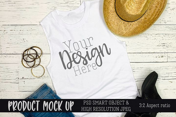Summer festival tank top Craft mock up | PSD & JPEG