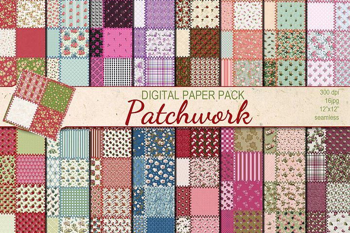 Patchwork seamless patterns
