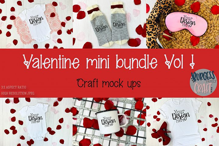Valentine Mini Bundle Vol I | Craft mock ups