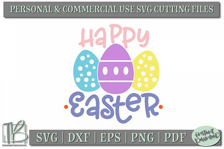Happy Easter SVG, Easter SVG Cut Files example