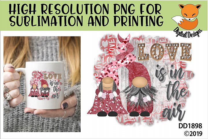 Valentine Nordic Gnome Sublimation Design