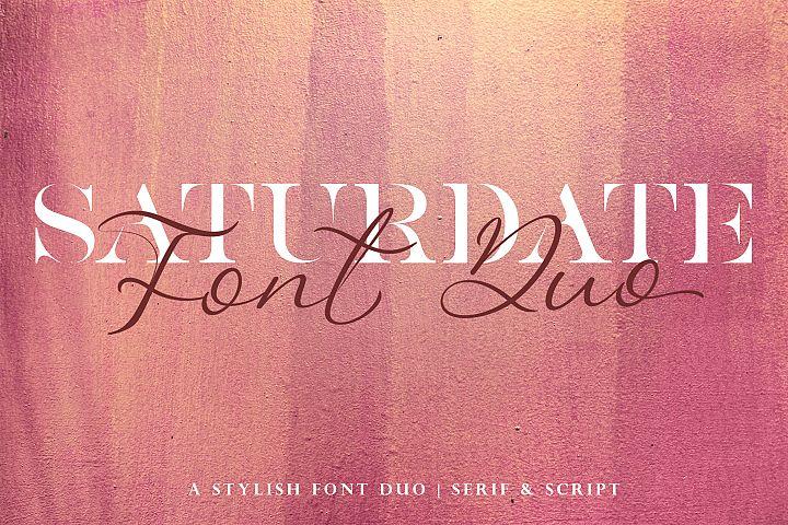 Saturdate Font Duo