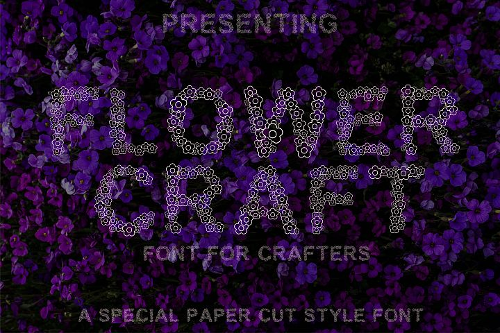 Flower Craft - Alphabets Flower Font For Crafters