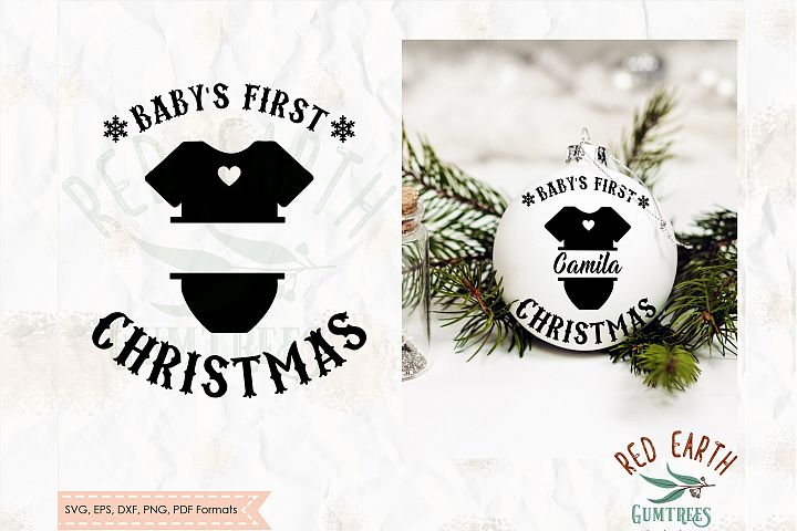 Babys first Christmas tree bauble decal SVG,PNG,DXF,EPS,PDF