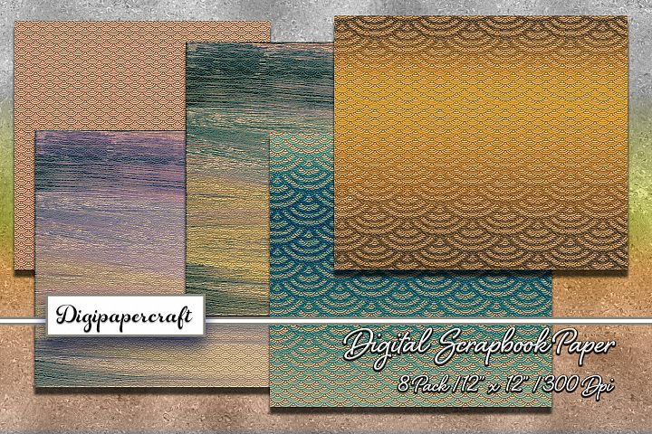 Abstract Pattern Digital scrapbook paper pack
