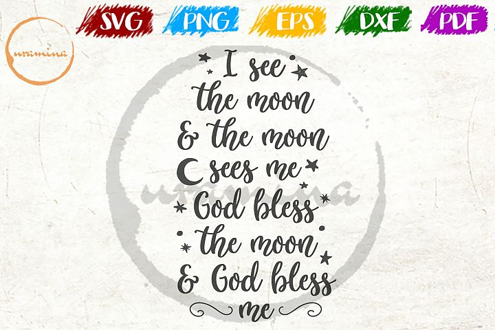 I See The Moon Kids Room SVG PDF PNG