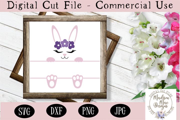 Bunny Frame SVG, Easter Cut File