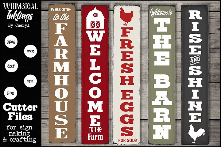 Farmhouse Verticals SVG Set