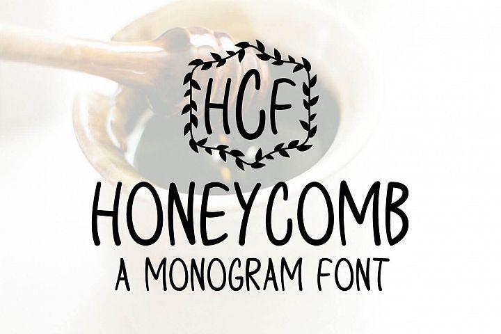 Honeycomb - A Monogram Font
