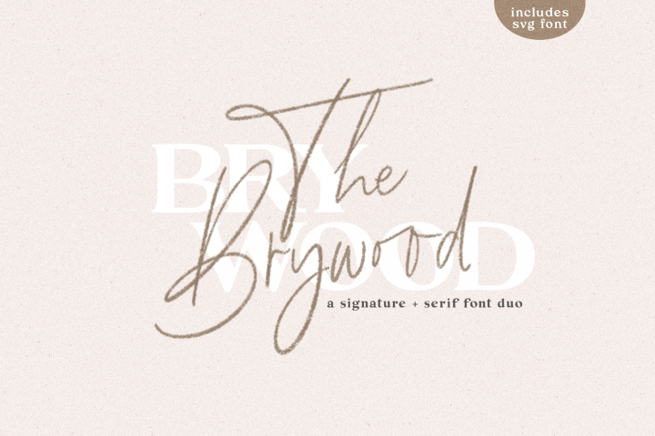 The Brywood - A Handwritten Script & Serif Font Duo