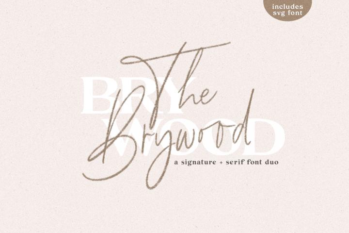The Brywood - A Handwritten Script & Serif Font Duo