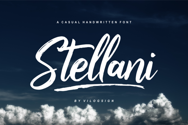 Stellani // a Casual Handlettering Font
