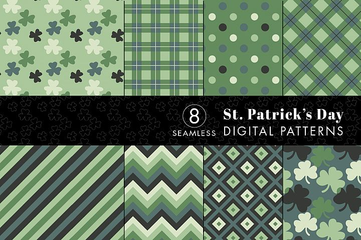 8 Seamless St. Patricks Day Patterns Set 3