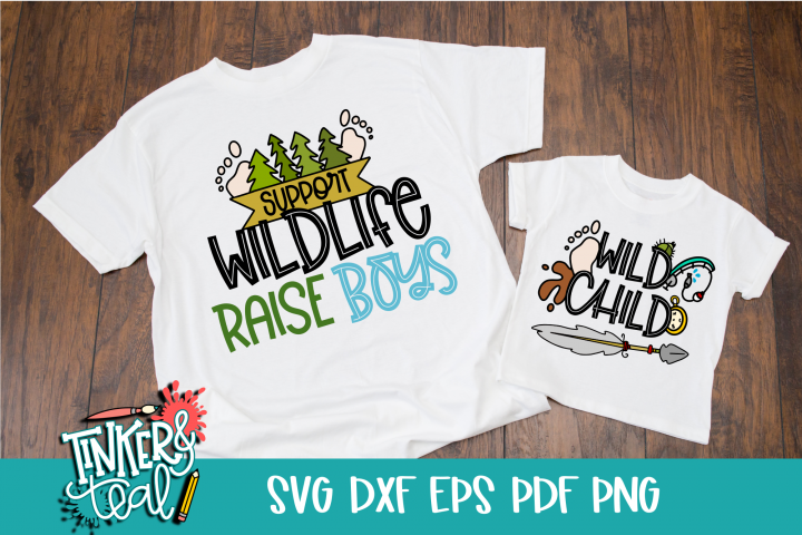 Mom and Me Support Wildlife SVG Duo
