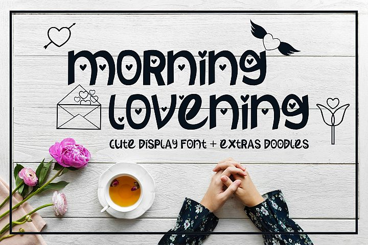Morning Lovening | Cute Display Font