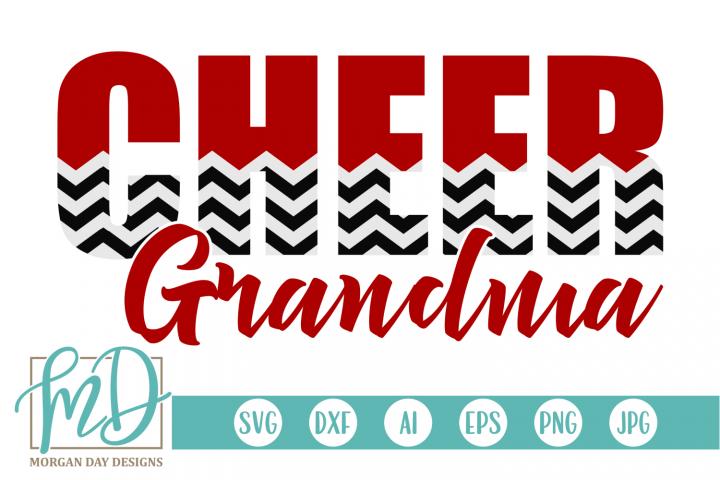 Cheer Grandma - Cheerleader SVG, DXF, AI, EPS, PNG, JPEG