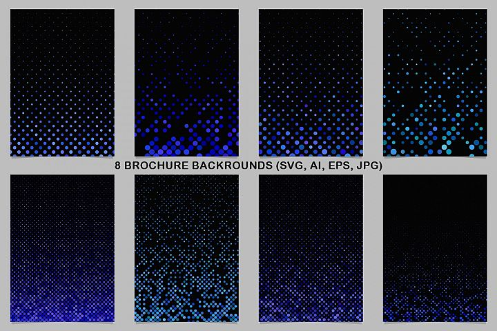 8 Blue Brochure Backrounds