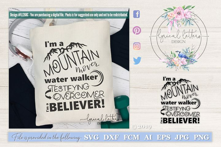 NEW! Im a Believer SVG LL268C