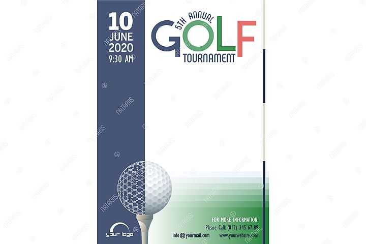 Annual Golf Tournament poster template.