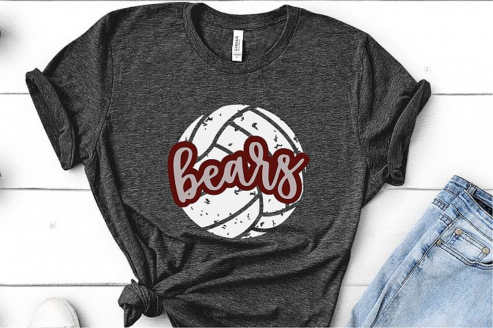 Sports SVG, Bears Volleyball SVG, Sports Sublimation