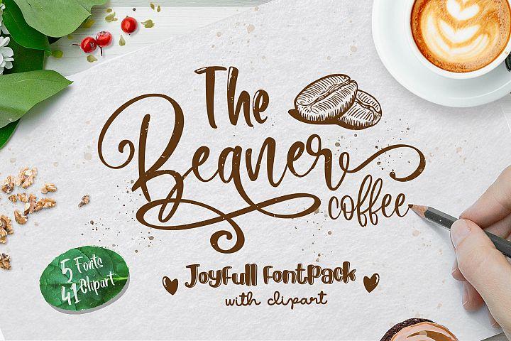 The Beaner - 5 Font & 41 Clipart