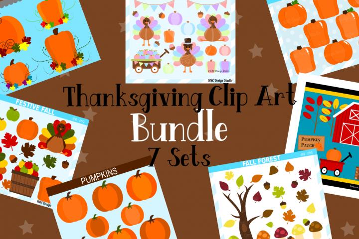 Thanksgiving Clipart Graphics Bundle, Illustrations, Clipart