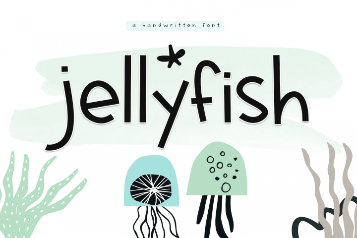 Jellyfish - A Fun Handwritten Font - Free Font of The Week