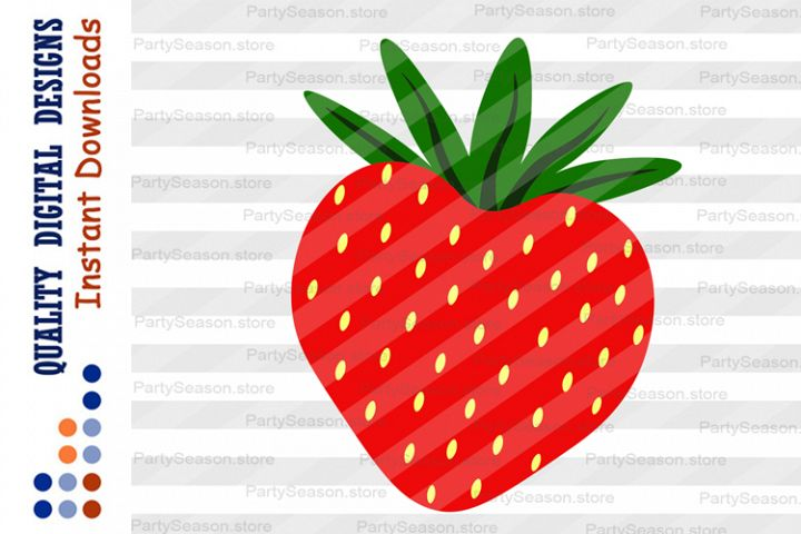 Strawberry Clipart Summer life svg Red berries Svg files