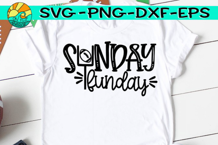 Sunday Funday - Football - SVG - DXF - EPS - PNG