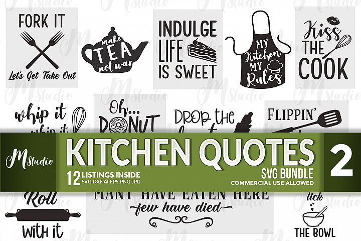 Kitchen Quotes svg bundle - 2