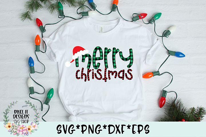 Merry Christmas Plaid SVG Cut File