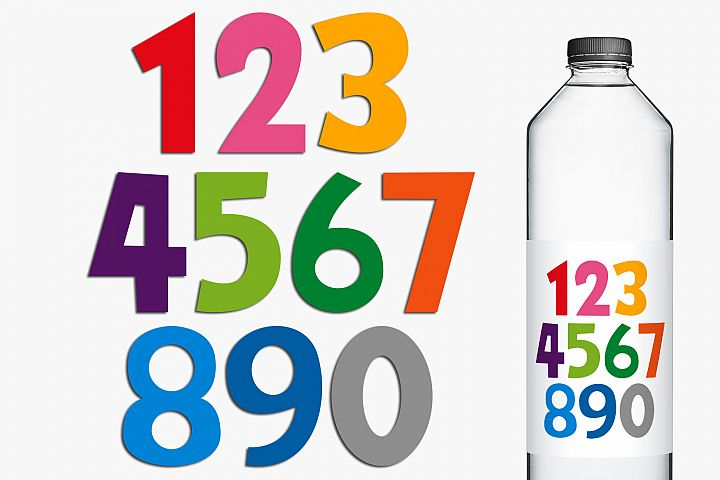 Colorful Numbers Clip Art Illustrations