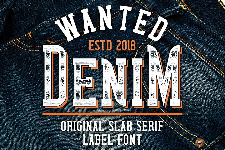 Wanted Denim layered font