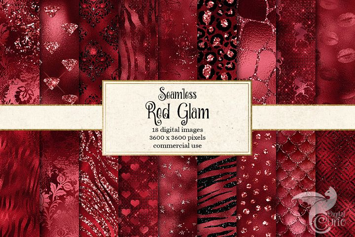 Red Glam Textures