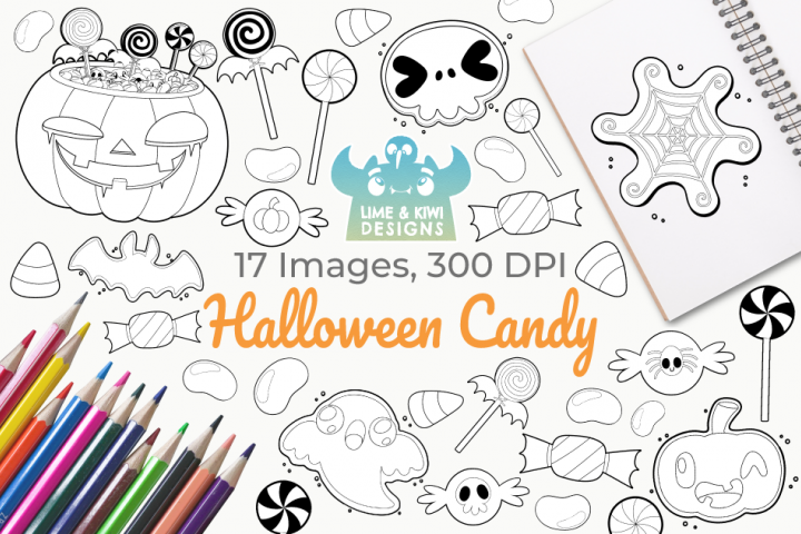 Halloween Candy Digital Stamps