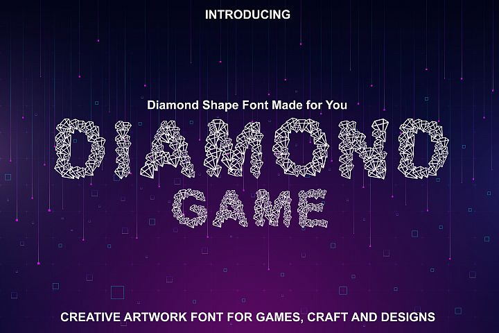 Diamond Font - Diamond Shapes Font for You