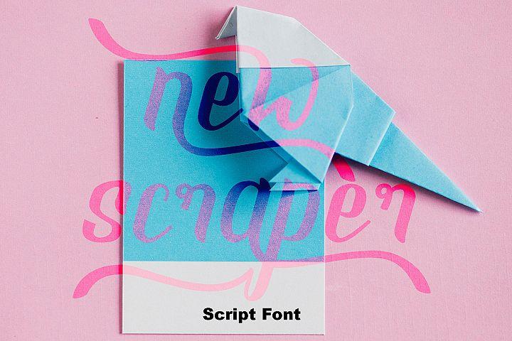NEW SCRAPER - Script Font