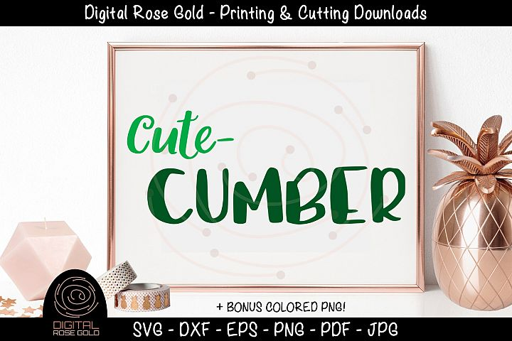 Cute Cumber- Cute Kids SVG, Funny Vegetable Shirt Design SVG