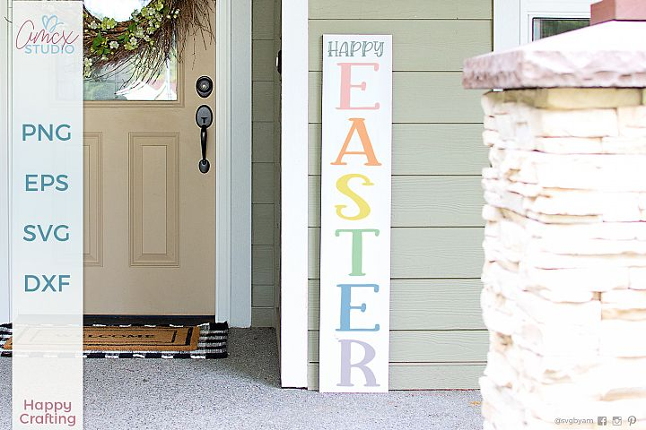 Happy Easter - Spring Vertical Porch Sign