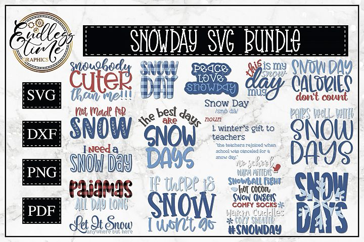 Snow Day SVG Bundle - A Cool and Funny SVG Bundle